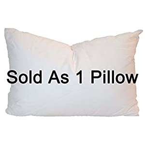 Pillowflex Synthetic Down Pillow Inserts for Shams Aka Faux / Alternative (13 Inch by 19 Inch)