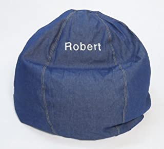 product image for Bean Bag Chair Kid Size Personalized Embroidered Comfy Bean - Denim