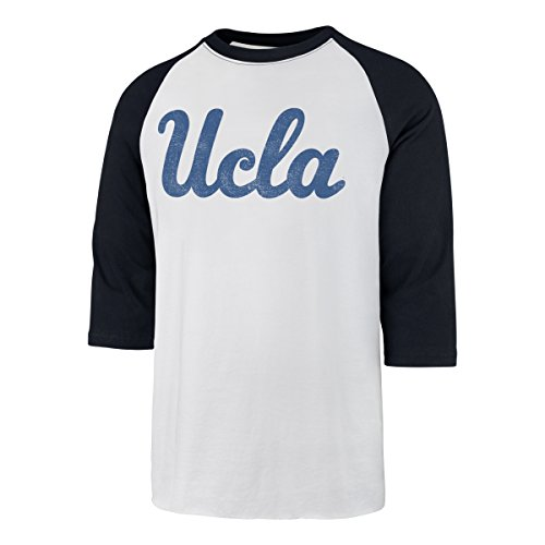 NCAA UCLA Bruins Men's Ots Rival Raglan Distressed Tee, Large, White Wash (Ucla Fan Gear)
