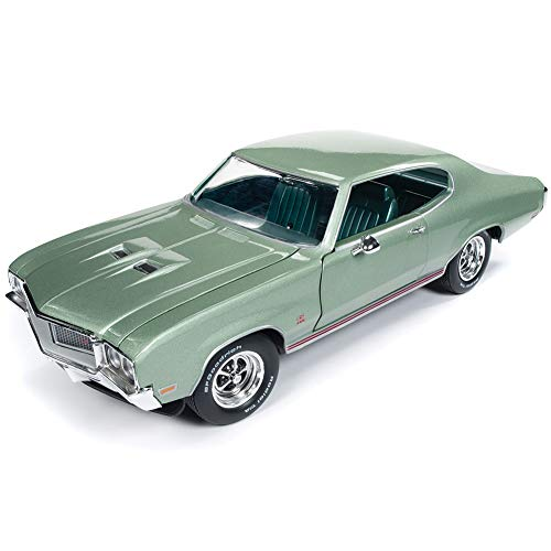 Buick Gs Green Car - 1970 Buick Grand Sport GS 455 Hardtop MCACN (Muscle Car and Corvette Nationals) Seamist Green Limited Edition to 1,002 Pieces Worldwide 1/18 Diecast Model Car by Autoworld AMM1149