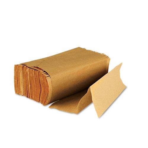 Boardwalk 6202 Multifold Paper Towels, Brown Kraft, 9 x 9 9/20 (16 Pack of 250) (Towel Labels)