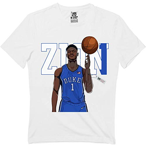 Duke Zion-1 Basketball Player Super Star College Blue Tshirt