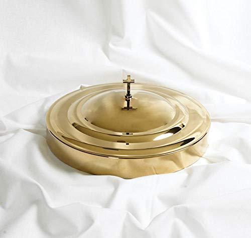 Tray Cover - Remembranceware - Brass Tone Brass Tone Communion Tray