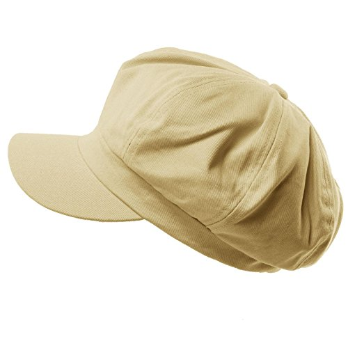 Ladies Fashion Newsboy Caps (Summer 100% Cotton Plain Blank 8 Panel newsboy Gatsby Apple Cabbie Cap Hat Stone)