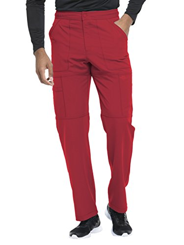 - Dickies Dynamix by Men's Zip Fly Cargo Scrub Pant Large Tall Red
