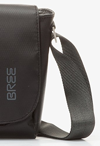 BREE - Bolso al hombro para hombre gris gris 26 cm x 19 cm x 7 cm (B x H x T) negro