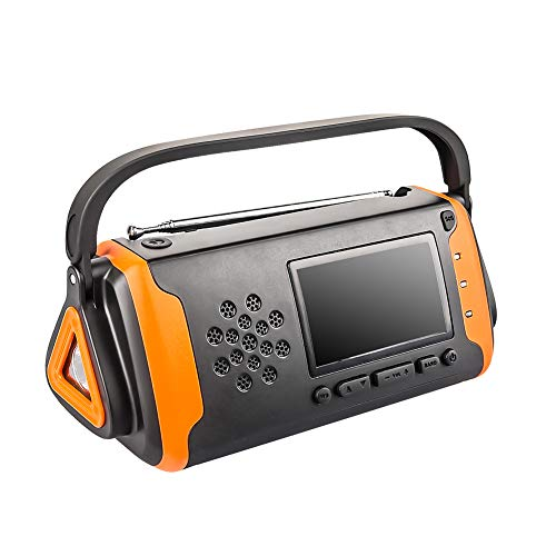 Solar Crank Radio Flashlight Charger Led Reading Light in US - 5