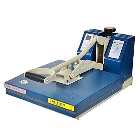 Fancierstudio Power Heat Press Industrial-Quality Digital 15-by-15-Inch Sublimation T-Shirt Heat Press 15x15 Blue (15 X 15 Power Heat Press)