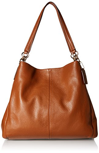 Coach Women's Phoebe Shoulder Bag, Saddle