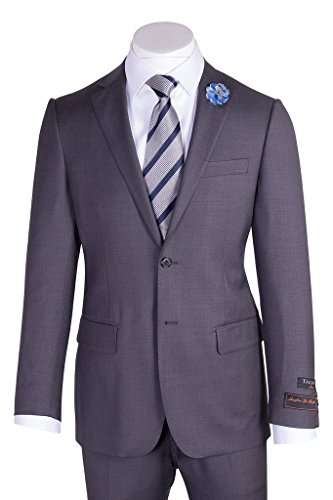 Tiglio Novello Medium Gray Modern Fit, Pure Wool Suit TIG1008