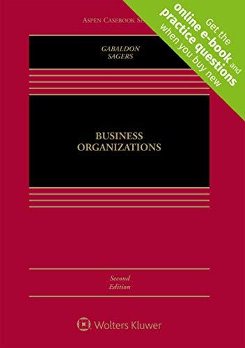 Business Organizations (Aspen Casebook)