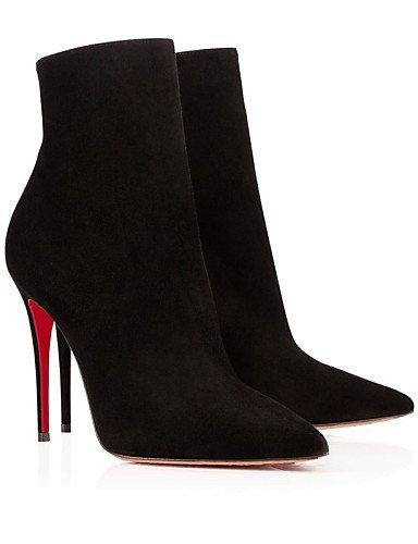 us9 Uk7 5 Moda Zapatos Oficina Y Xzz 10 Trabajo Vellón Mujer Eu41 8 La Stiletto Fiesta Negro Noche Vestido Tacón Black Cn42 Botines A De Botas 5 HwqzRwgdx