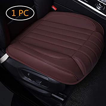 Vehicles SUV Fit Most Sedan 1PC or Van Auto Bottom Front Driver /& Passenger Seat Protector Pad with Leg Support Pillow //3D Edge Wrapping HONCENMAX Car Seat Cover Cushion