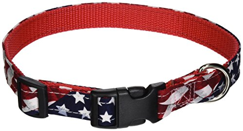 OmniPet American Dog Collar, Medium, Flag Colors