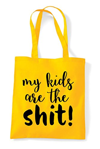 The Shit My Parenting Bag Shopper Are Tote Yellow Kids Statement UEwqSt
