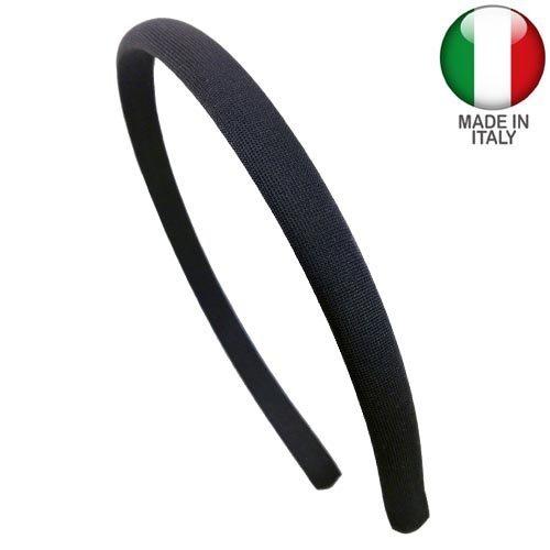 501-001 - Cerchietto per capelli lycra cm 1 nero - Fermacapelli accessori cerchietti Righe e Pois