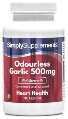High Strength Garlic 500mg | 2x 180 (360) Capsules | Heart Health &...