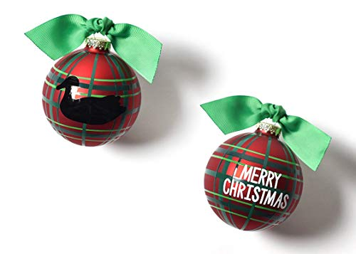 Coton Colors 100 MM Merry Christmas Duck Decoy Glass Ornament (Duck Christmas Merry)