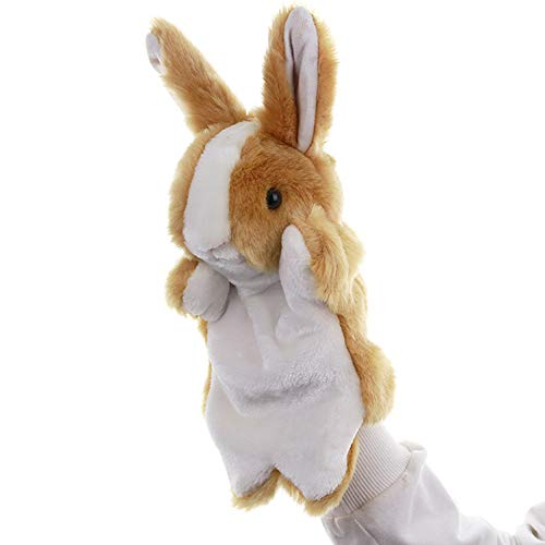 KOSSJAA Animals Hand Puppet for Kid Dogs Adults and Children Storytelling Game Props Toy Girls Kindergarten Role Play (Brown Rabbit)