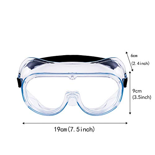 Safety Goggles, Protective Safety Glasses, Soft Crystal Clear Eye Protection – Perfect for Construction, Shooting, Lab Work, and More, 2 Pack (White)