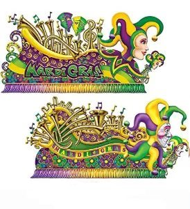 Mardi Gras Insta-theme Float Props 65-67in. (2/pkg) Pkg/12 -