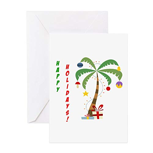 CafePress Holiday Palm Tree Greeting Card (20-pack), Note Card with Blank Inside, Birthday Card Matte