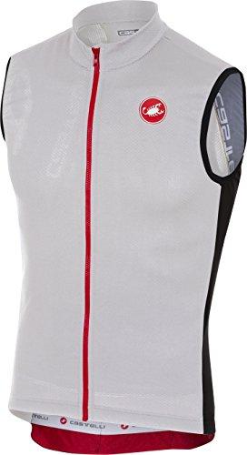 Castelli Entrata 3 Sleeveless Full-Zip Jersey - Men's Light Black, XL