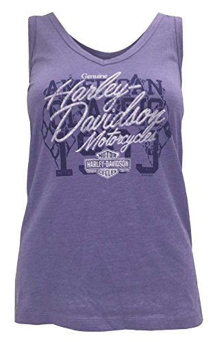 Harley Davidson Womens Crossed Shimmer V Neck