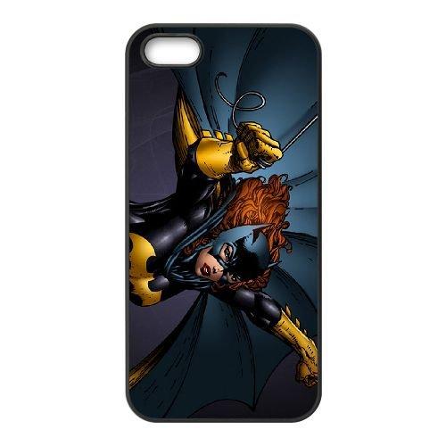 Batgirl 002 coque iPhone 4 4S cellulaire cas coque de téléphone cas téléphone cellulaire noir couvercle EEEXLKNBC23375