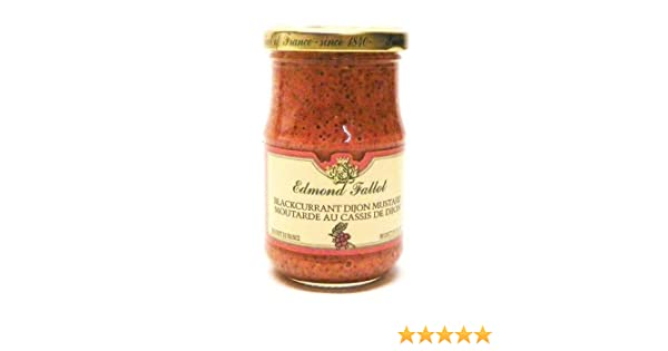 Amazon.com : Edmond Fallot Blackcurrant Dijon Mustard - 7.2oz : Gourmet Mustard : Grocery & Gourmet Food