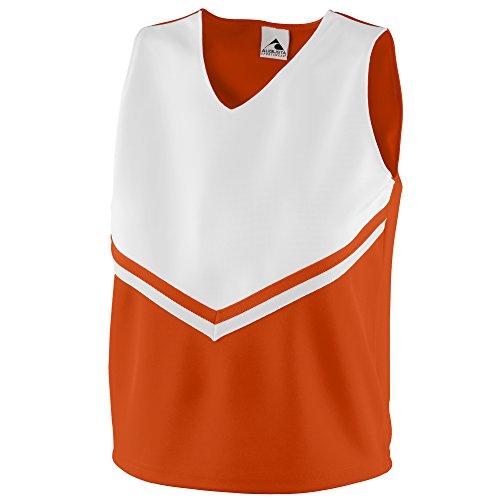 Cheer Visor (Augusta Sportswear Girls' Pride Shell L Orange/White/White)
