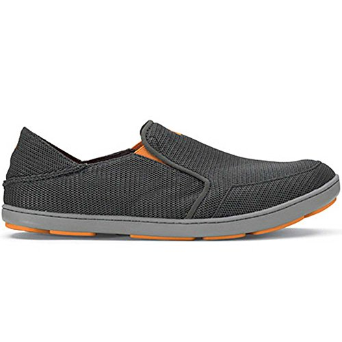 OLUKAI Men's Nohea Mesh Slip-On Shoes, Dark Shadow/Dark Shadow, 11 M US
