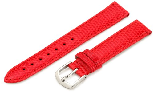 (Hadley-Roma Women's LSL715RQ 150 15-mm Red Genuine Java Lizard Watch Strap)