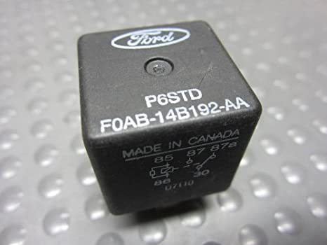 q Ford FOAB-14B192-AA relays P6std   Set of 5 Used Multi purpose Mustang F150