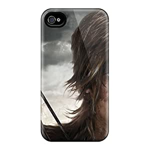 Anti-Scratch Cell-phone Hard Cover For Iphone 4/4s With Custom High-definition Tomb Raider Skin ColtonMorrill