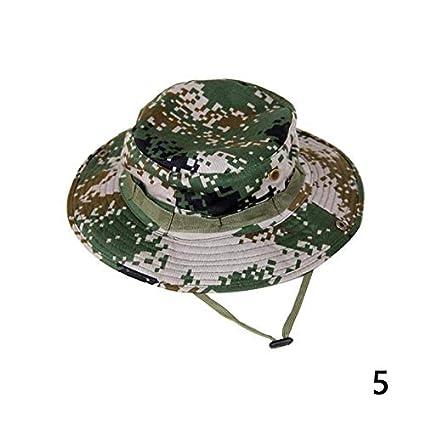 926fdba8247 Amazon.com  FelixStore Comfortable Casual Bucket Hat Boonie Hunting Fishing  Outdoor Cap Wide Brim Military Unisex Sun Camo Military Bucket Hat  Kitchen    ...