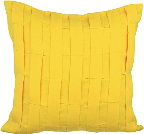 The HomeCentric Gelb Kissenbezüge 65 x 65 cm, Velour Kissenbezug, handgemachte Dekokissenbezug Gelb - Yellow Love Tune