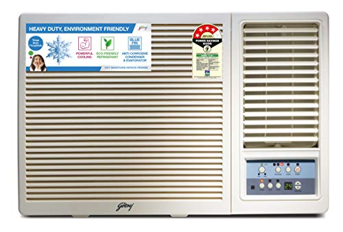 Godrej 1.5 Ton 4 Star Window AC (Copper, 2019 Model,AC 1.5T GWC 18UTC4-WTA Window, White)