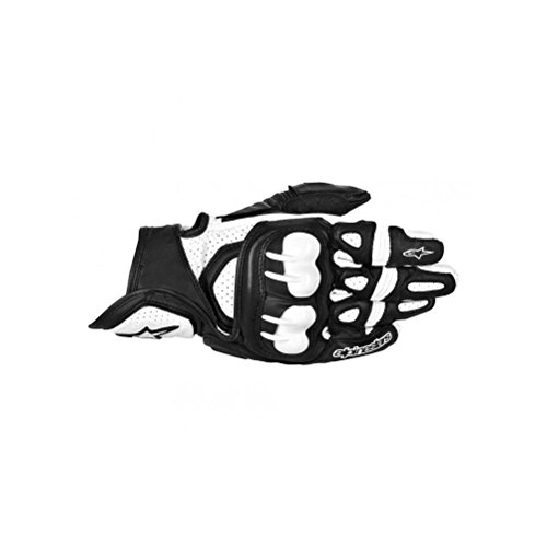 Alpinestars Leather Gpx - Alpinestars GPX Men's Leather Street Bike Motorcycle Gloves - Black/White / 2X-Large