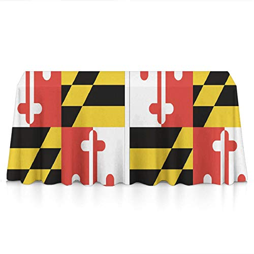 Clip Paper Maryland Holder (KYWYN Premium Table Cloth - Maryland State Flag - Table Overlay/Cover Tapestries for Brunches,Dinners,Buffet Table,Birthday,Picnic,X-mas,Holiday, Year Decoration(60