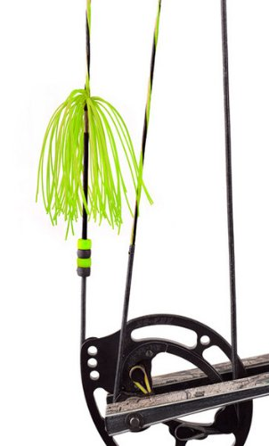 Pine Ridge Archery Nitro Whiskers String Silencers (Lime Green)