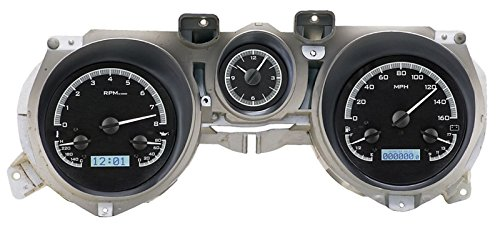 Dakota Digital 71-73 Ford Mustang Analog Dash Gauges Black Alloy White VHX-71F-MUS-K-W - Dakota Digital Auto