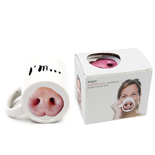 ovelty Gift Pig Nose Coffee Tea Mug Cup 12oz (Pig Nose) ()