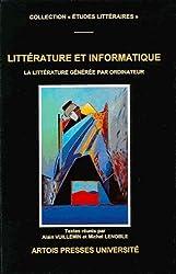 Littérature et informatique : La littérature générée par ordinateur