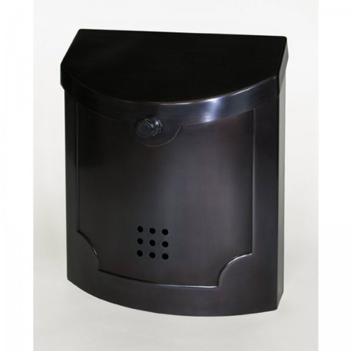 Black Pewter Wall Mount Mailbox (Black Pewter) (14''H x 11''W x 4.5''D) by Fuoriserie