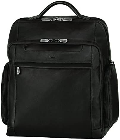 Mancini Leather Goods Columbian 15.6 Inch Laptop Backpack