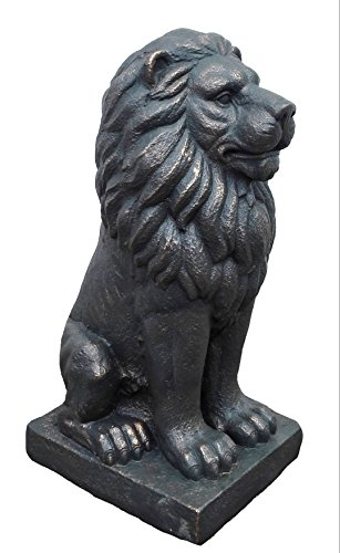 "TIAAN 28"" Lion King Concrete Statues Garden Statue Decor Lion Sculptures Outdoor Indoor Ornament Home Patio Large Figurines by TIAAN (Image #3)"