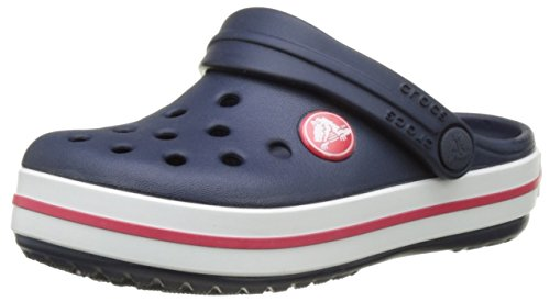 Crocs Kids' Crocband K Clog, Navy/Red, 8 M US Toddler