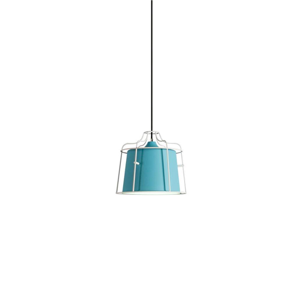 Nordic Post-Modern Style Kronleuchter - Industrial Style Kronleuchter, individuelle kreative Kunst Single Head Kronleuchter (blau)