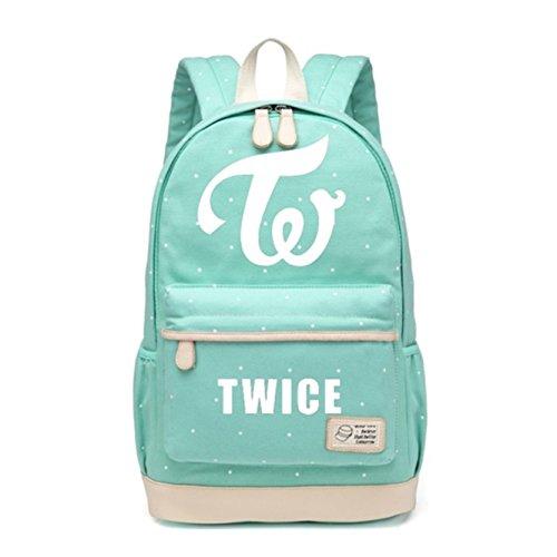 JUSTGOGO KPOP TWICE Backpack Daypack Laptop Bag College Bag Book Bag School Bag
